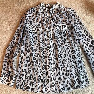 Express Leopard Blouse M